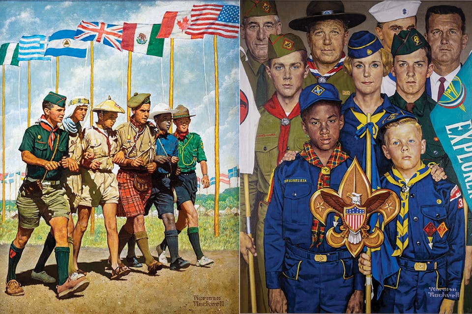 "Norman Rockwell's ""Breakthrough for Freedom"" and ""America's Manpower Begins with Boypower"""