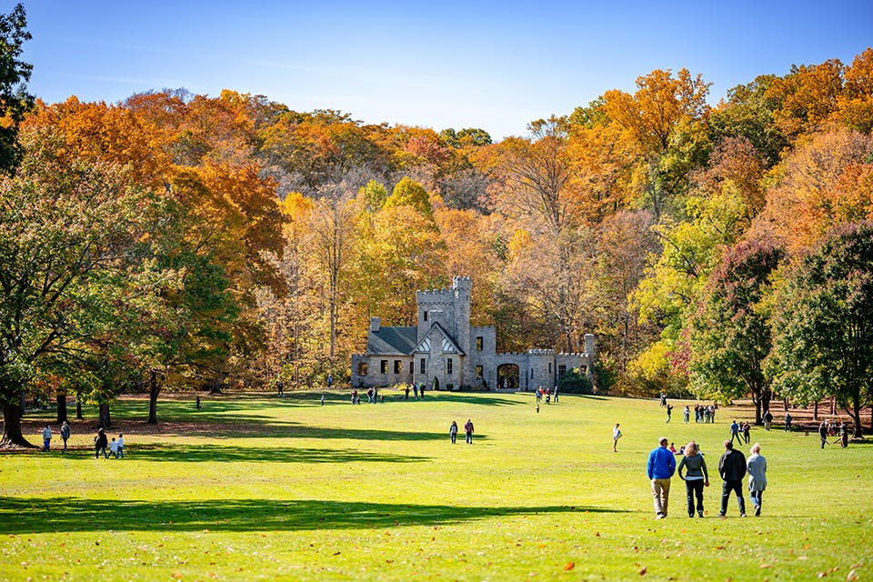 Squire's Castle in the fall (photo by Erik Drost)